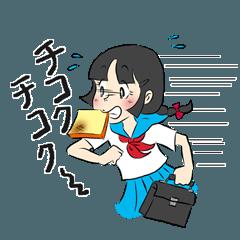 レトロ・昭和少女マンガ風スタンプ