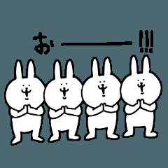 動く!!シュールなウサギのリアクション