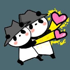 [LINEスタンプ] 帽子パンダwith Friendの画像(メイン)