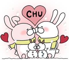 CHUして幸せラブラブカップルうさぎ3【冬】