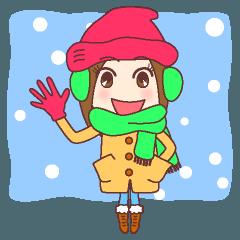 天然癒し系女子。おはよう年賀他冬の挨拶編