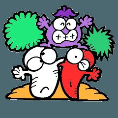 野菜畑の仲間たち