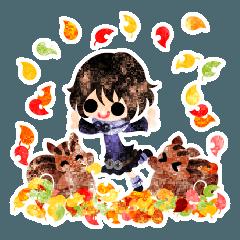 可愛い小人たち -秋のひととき-