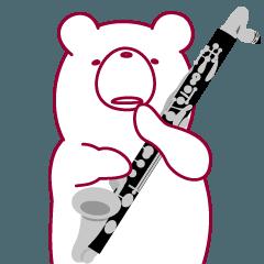 クマなのにバスクラリネット吹きます。