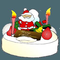 クリスマスの時期に使うスタンプ