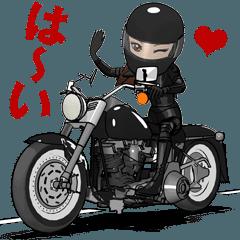 アメリカンなバイク女子