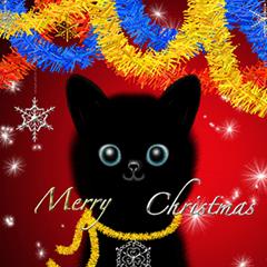 ハッピー クリスマス 白と黒