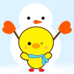 [LINEスタンプ] ひよこのぴよちゃんの冬 (1)