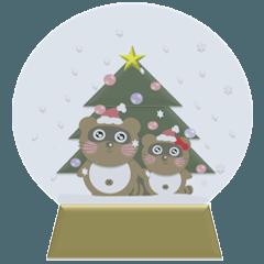 タヌキのぽんちゃん(秋・冬version)