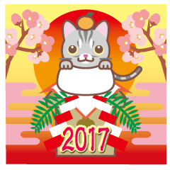 NEW YEAR 2017〜アメショーとアメ車