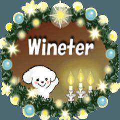 冬【年末年始】白い仔犬