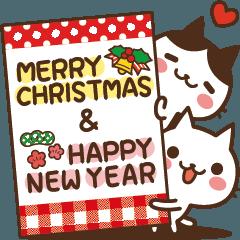 動く♪ ねこの缶詰め【クリスマス&お正月】