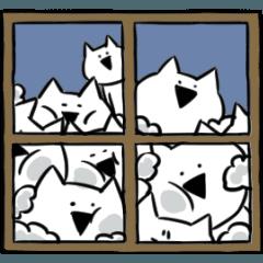 [LINEスタンプ] すこぶる動くネコ【冬】 (1)