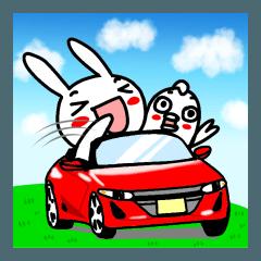 赤いオープンカーが好き!