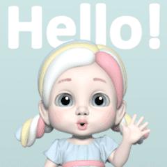 マシュマロの妖精、マロ: 3D ver.01