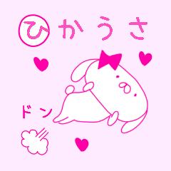 ピンク大好きひかうさちゃん 基本パック