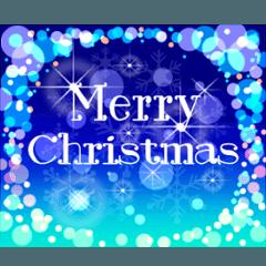 キラキラ動く!クリスマスカード1