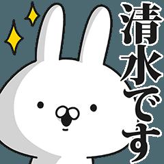 清水さん専用の名前スタンプ!