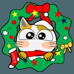 黒猫ハッピー&みーこ in Christmas