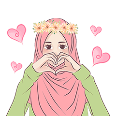 Hijab Chic: Animated Sticker