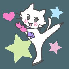 白猫ちゃんフィギュアスケーター
