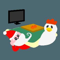 クリスマス&お正月のゆかいな仲間たち