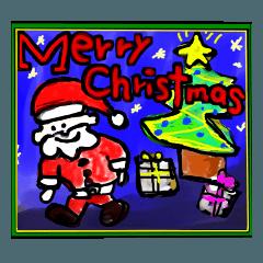 らくがきクリスマスカード(8枚)