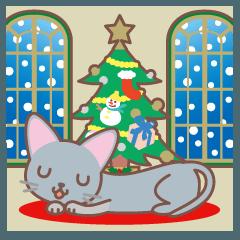クリスマスと年末 〜ロシアンブルー