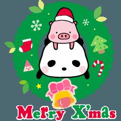 パンダと豚のクリスマス編(Ellya)