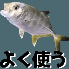 釣りのお魚スタンプ