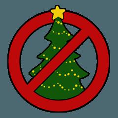 クリスマスは中止となりました。