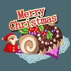 動く!!クリスマススタンプ