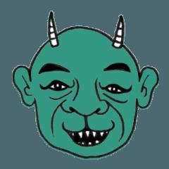 ホビヲノエ、色々な鬼の顔