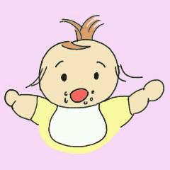 子育てママの赤ちゃんスタンプ