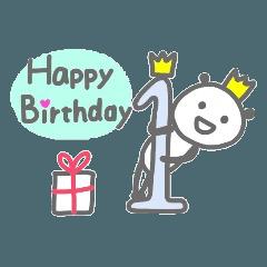パンダのお誕生日カード☆(1歳~40歳)