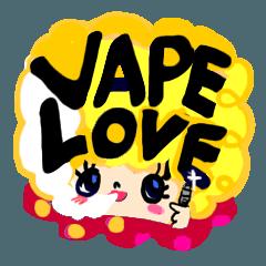vape girls stamp.ほぼ英語