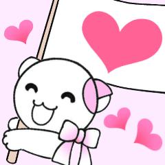 愛をつかめ 福猫の桜とひまわりが応援