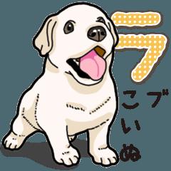 [LINEスタンプ] ばな菜のラブラドール仔犬 (1)