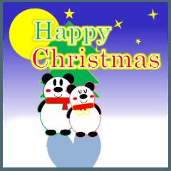 [LINEスタンプ] パンダの冬(年末年始:クリスマス&正月)