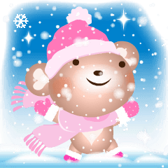 雪国のラブリーハート熊