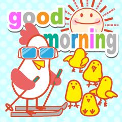 「おはよう」天気で挨拶 冬編