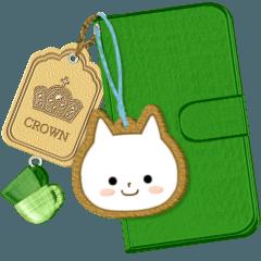 [LINEスタンプ] ☆白ねこブランの基本セットver.0☆