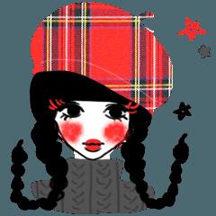 TRAD-girl(HIGH-QUALITY sticker vol.4)