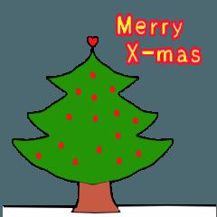 クリスマス 新年 普通のスタンプ