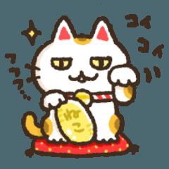お正月&十二支・猫分多めのスタンプ
