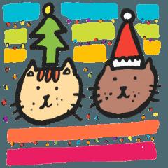 PAN KITTEN-WISH YOU A MERRY CHRISTMAS
