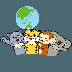 動物占い(R)スタンプ ~地球グループ~