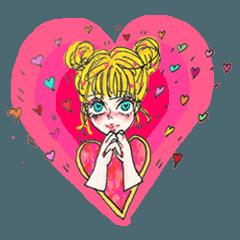 girl gurley Sticker