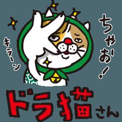 [LINEスタンプ] どろぼう猫のドラ猫さん (1)