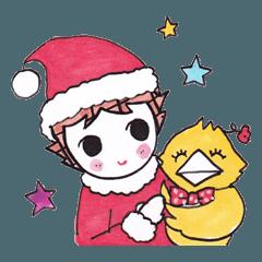 ますめちゃんととりさん☆Xmasとお正月